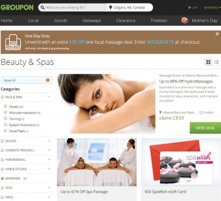 Groupon - Extra 10 Off Local Massage Deals Promo Code (Apr 28 Only)