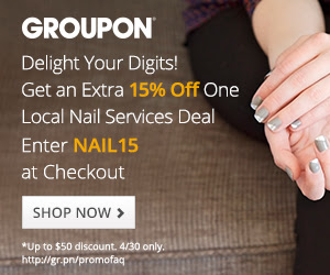 Groupon Extra 15 Off Nail Deals Promo Code (Apr 30 Only)