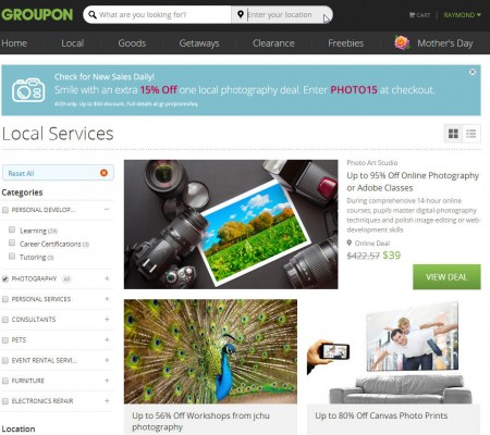 Groupon Extra 15 Off Photography Deals Promo Code (Apr 29 Only)