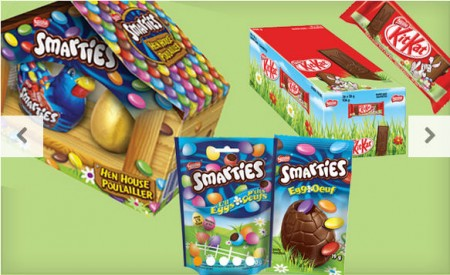 HOT DEAL WagJag - Up to 59 off Nestlé Easter Chocolate including Kit Kat and Smarties (5 Options)