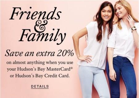 Hudson's Bay Friends & Family Sale (Until Apr 6)