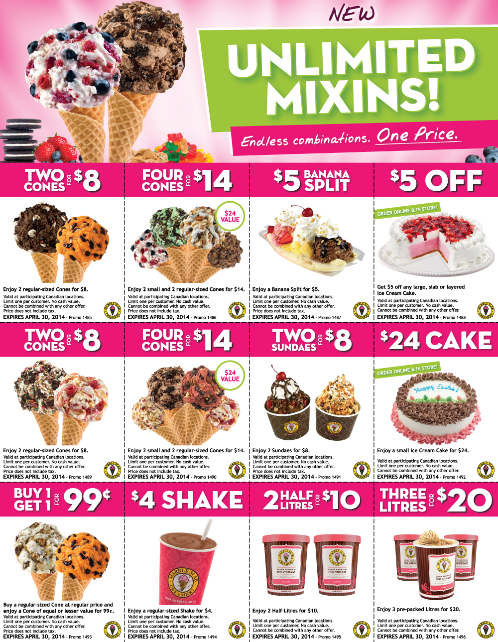 Marble Slab Creamery New Printable Coupons (Until Apr 30)