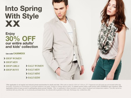 Mexx 30 Off Everything Sitewide (Apr 17-23)