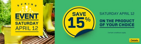 RONA 15 Off Any One Product of Your Choice (Apr 12 Only)
