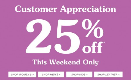 Roots Canada Customer Appreciation Sale - 25 Off Everything (Until Apr 27)