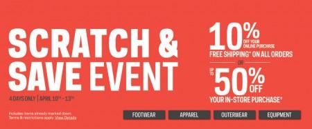 Sport Check Scratch & Save Event (April 10-13)
