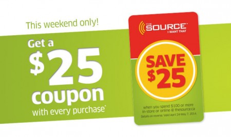 The Source Get a $25 Coupon with Every Purchase (Ends Apr 13)