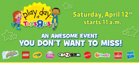 Toys R Us Play Day - FREE Event (Apr 12 starting at 11am)
