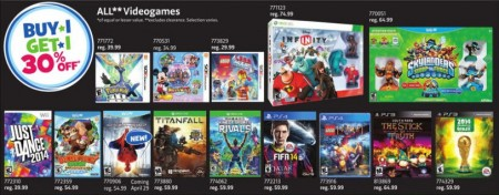 Toys R Us Video Games - Buy 1, Get 1 30 Off (Until Apr 25 - May 1)