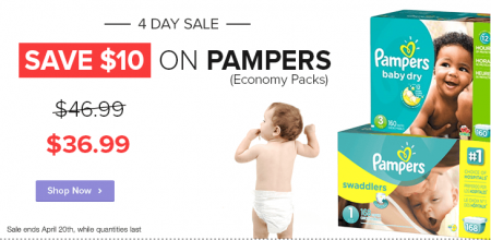 Well Save $10 Off Pampers Baby Diapers Economy Packs (Apr 17-20)
