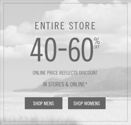 Abercrombie & Fitch Save 40-60 Off Entire Store