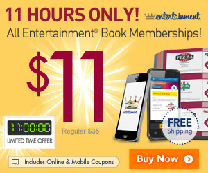 Entertainment Books All Coupon Books only $11 + Free Shipping (May 13)