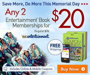 Entertainment Books Any 2 Coupon Books for $20 + Free Shipping (Until May 26)