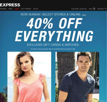 Express 40 Off Everything (Until May 11)