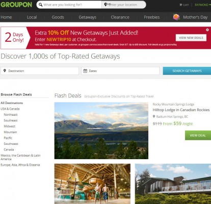 Groupon Extra 10 Off Getaways Travel Deals Promo Code (May 7)
