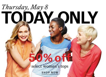 Hudson's Bay One Day Sales - 50 Off select Women's Tops (May 8)