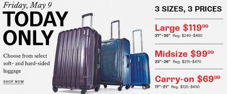 Hudson's Bay One Day Sales - Save up to 83 Off select Luggage (May 9)