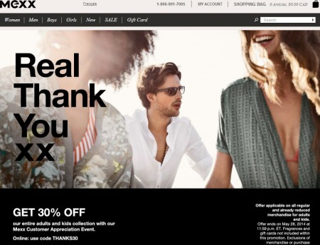 Mexx Customer Appreciation - 30 Off Everything Sitewide (May 15-28)