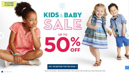 Old Navy Kids & Baby Sale - Up to 50 Off