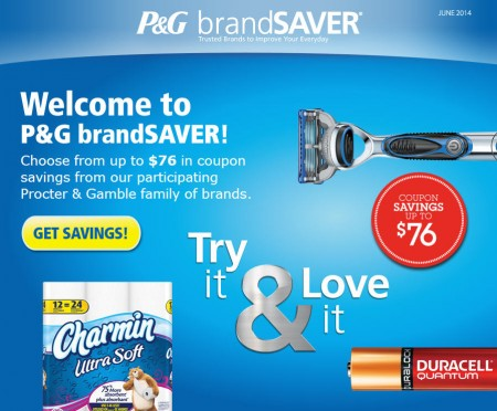 P&G brandSAVER Up to $76 in Coupons Savings (June 2014)