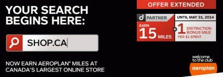 Shop - Earn 16 Aeroplan Miles per $1 Spent (Until May 31)