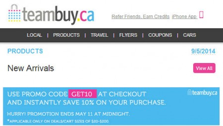 TeamBuy - Extra 10 Off All Deals Promo Code (May 10-11)
