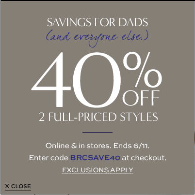 Banana Republic 40 Off 2 Full-Prices Styles (Until June 11)