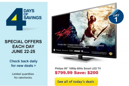Best Buy 4 Days of Savings - Special Offers Each Day (June 22-25)