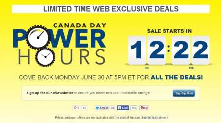 Best Buy Canada Day Power Hours Sale (June 30 - July 2)
