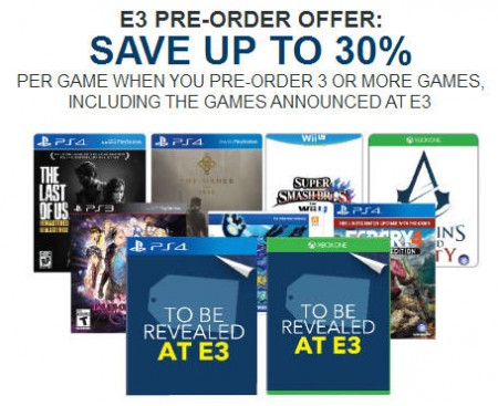 Best Buy Pre-Order 3 Video Games and Save Up to $20 or 30 Off Each Game (Until June 12)