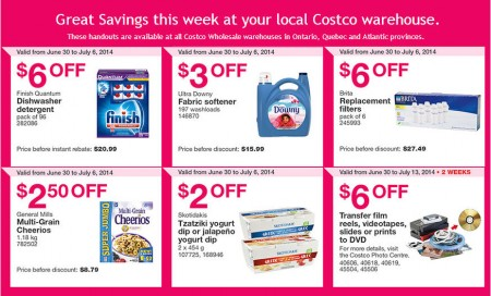 Costco Weekly Handout Instant Savings Coupons East (June 30 - July 6)