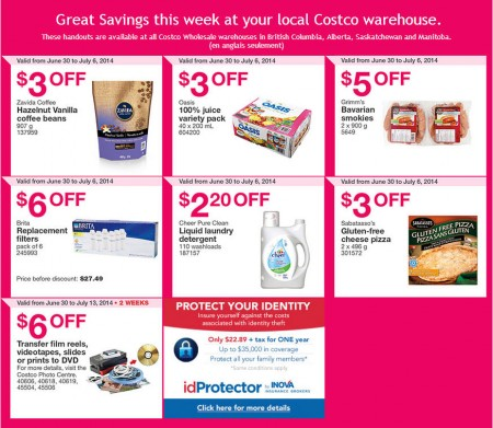 Costco Weekly Handout Instant Savings Coupons West (June 30 - July 6)