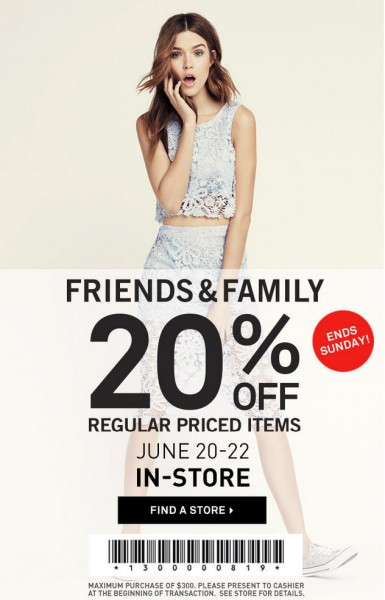 Forever 21 Friends & Family Sale - 20 Off Regular Priced Items Coupon (June 20-22)