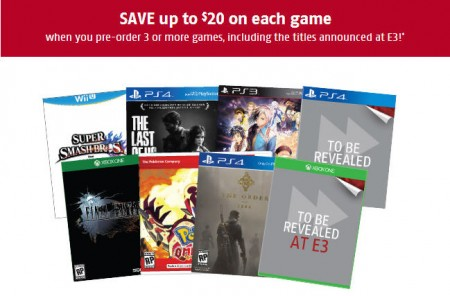 Future Shop Pre-Order 3 Video Games and Save Up to $20 or 30 Off Each Game (Until June 12)