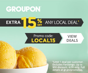 Groupon - Extra 15 Off Any Local Deal Promo Code (June 30 only)