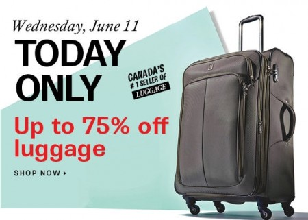 Hudson's Bay One Day Sales - Up to 75 Off Luggage (June 11)