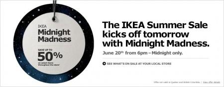 IKEA Midnight Madness (June 20 from 6pm - Midnight)