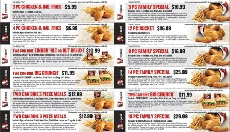 KFC New Printable Coupons (Until Aug 10)