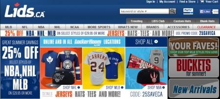 Lids 25 off NHL, NBA, & MLB Gear (June 25-27)