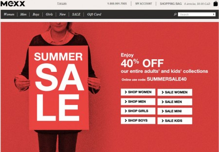 Mexx Summer Sale - 40 Off Everything (June 19 - July 2)