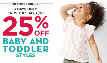 Old Navy 25 Off Baby & Toddler Styles (Until June 10)