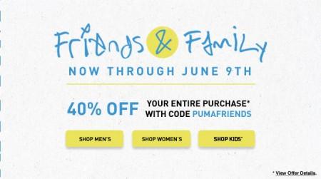 PUMA Friends & Family Sale - 40 Off Entire Purchase (June 5-9)