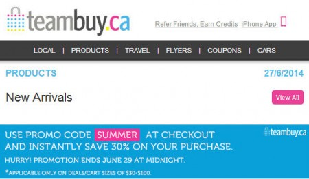 TeamBuy - Extra 30 Off Site-Wide Promo Code (Until June 29)