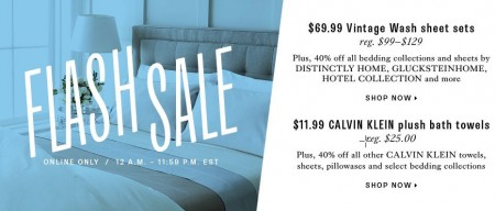 TheBay Flash Sale - Up to 40 Bedding Collections and Bath Towels (June 25)