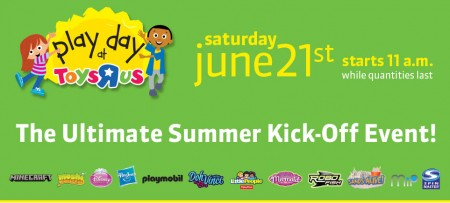 Toys R Us Play Day - FREE Event (June 21 starts at 11am)