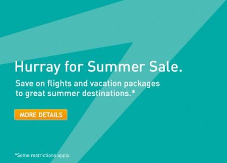 WestJet Hurray for Summer Sale (Book by June 4)