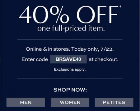 Banana Republic Flash Sale - 40 Off One Full-Priced Item (July 23)