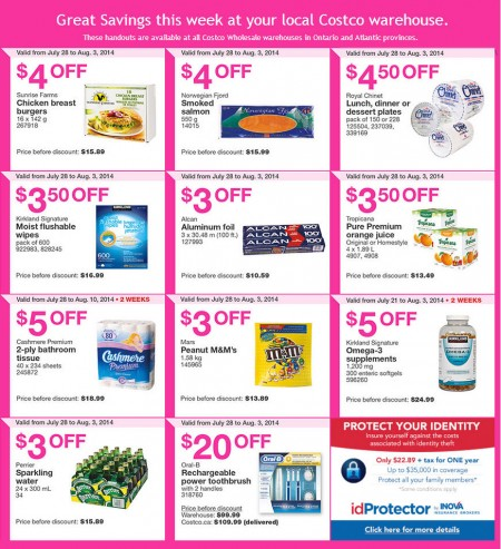 Costco Weekly Handout Instant Savings Coupons East (July 28 - Aug 3)