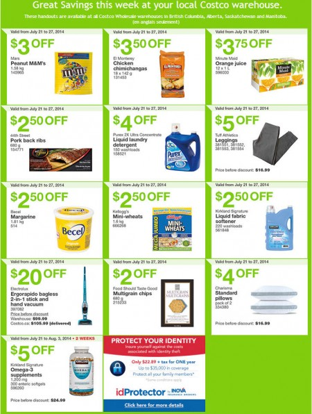 Costco Weekly Handout Instant Savings Coupons West (July 21-27)