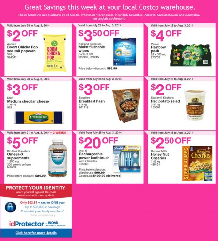 Costco Weekly Handout Instant Savings Coupons West (July 28 - Aug 3)
